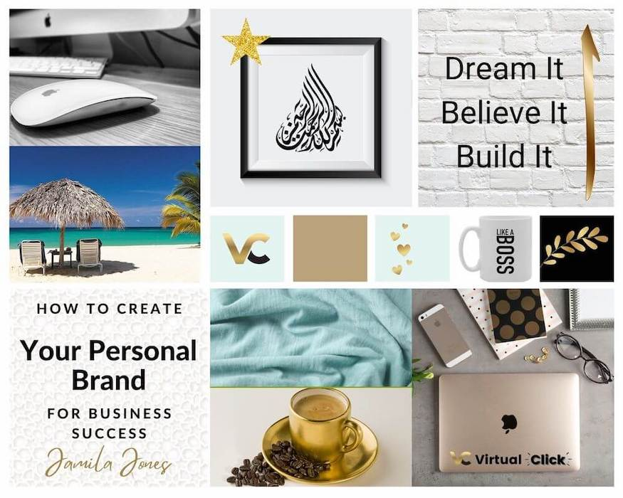 how to create your personal brand for business sucess - mood board
