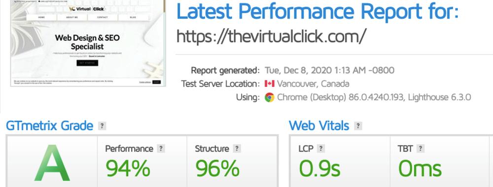 Building Trust Online - speed test