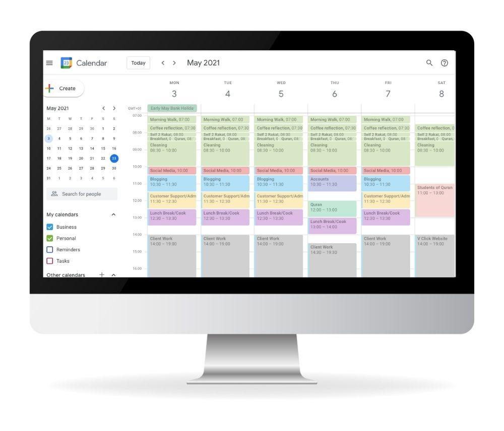 google-calendar-desktop-freelance-work-from-home